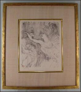 TOULOUSE-LAUTREC-Artist-Guy-et-Mealy-dans-Paris-qui-Marche-SIGNED
