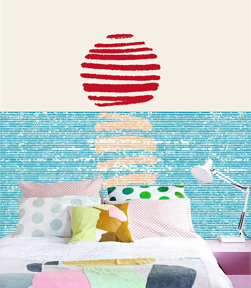 3D Blau, Rot, Muster, 233 Fototapeten Wandbild Bild Tapete Familie Kinder