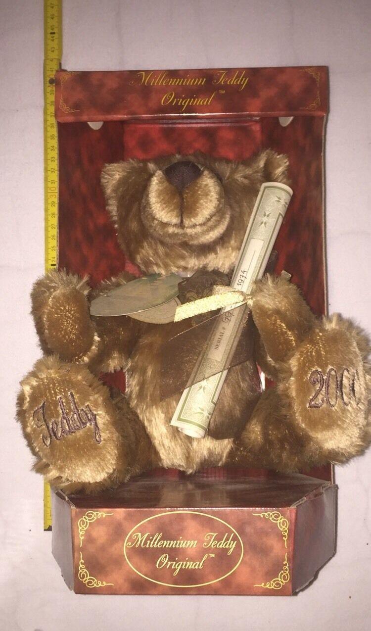 Aurora Teddy Original, Millennium limitiert 2000 OVP Zertifikat Rarität Bär