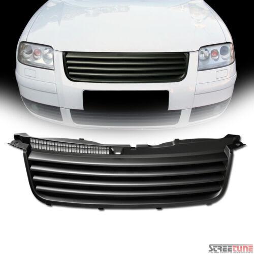 Matte Black Badgeless Horizontal Front Hood Grille ABS For 01-05 VW Passat B5.5