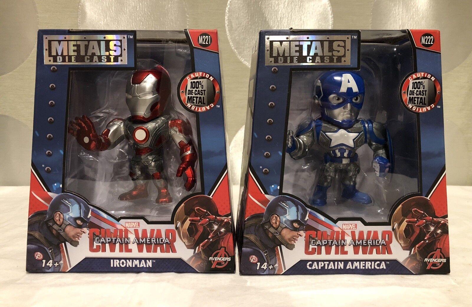 Marvel bürgerkrieg captain america - ironman und captain america - druckguss