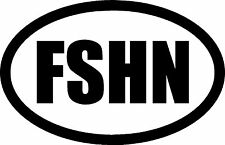 FISHING FSHN vinyl decal sticker for car/truck/toolbox window Boat 5.5x3.5