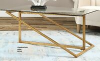 Hollywood Regency Modern Furniture Gold Leaf Metal Coffee Table Horchow