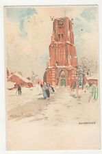 H. Cassiers, Holland, Woudrichem, Early Chromo Art Postcard, B330