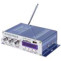 12V 100W USB Power HiFi Stereo 2 Channel Amplifier Car MP3 FM Audio Player Mini