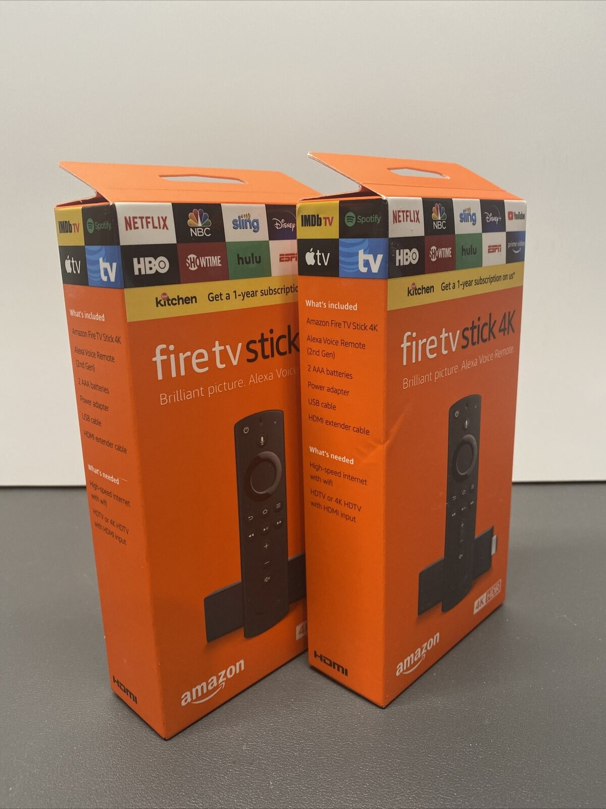Amazon Fire TV Stick 4K Streaming Media Player / Alexa QUANTITY 2! Free Shipping alexa amazon fire free media player quantity shipping stick streaming