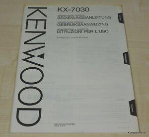 Kenwood KX-7030 Bedienungsanleitung mehrsprachig (auch in Deutsch)