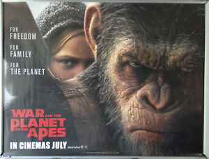 Cinema Poster War For The Planet Of The Apes 2017 Child Quad Andy Serkis Ebay