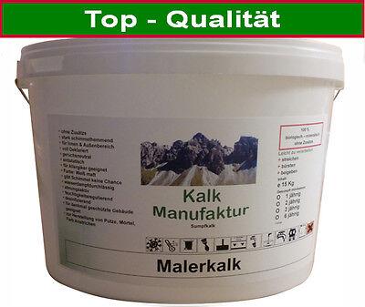Malerkalk Sumpfkalk 12 Monate 15 Kg Kalkfarbe Kalkschlämme Kalkanstrich