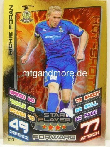 #123 Richie Foran Star Scottish Premier League Match Attax 2012//13 SPL