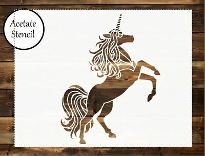 Unicorn stencil,Stencil, Card making, Airbrush, Craft Stencil