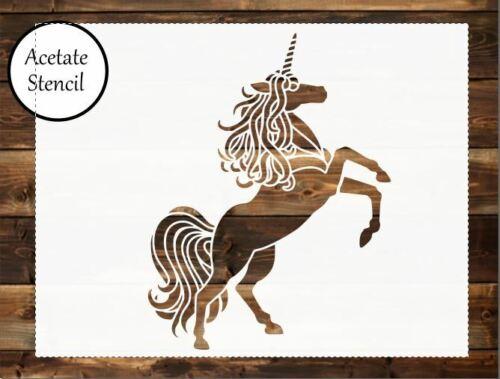 Airbrush Unicorn stencil,Stencil Craft Stencil Card making