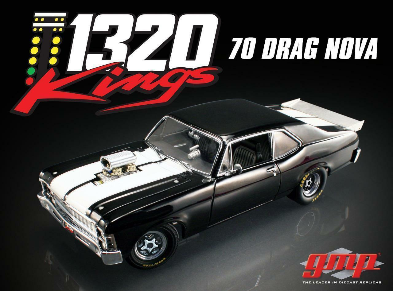 1 18 GMP 1970 Chevrolet Nova  1320 Kings  Diecast Drag Car  | Sonderkauf