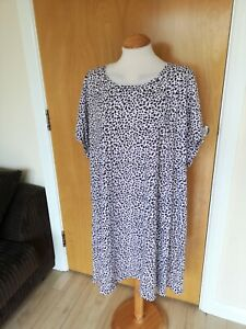Ladies-Dress-Size-30-32-Pink-Tunic-Stretch-Smart-Casual-Day-Party-Leopard-Print