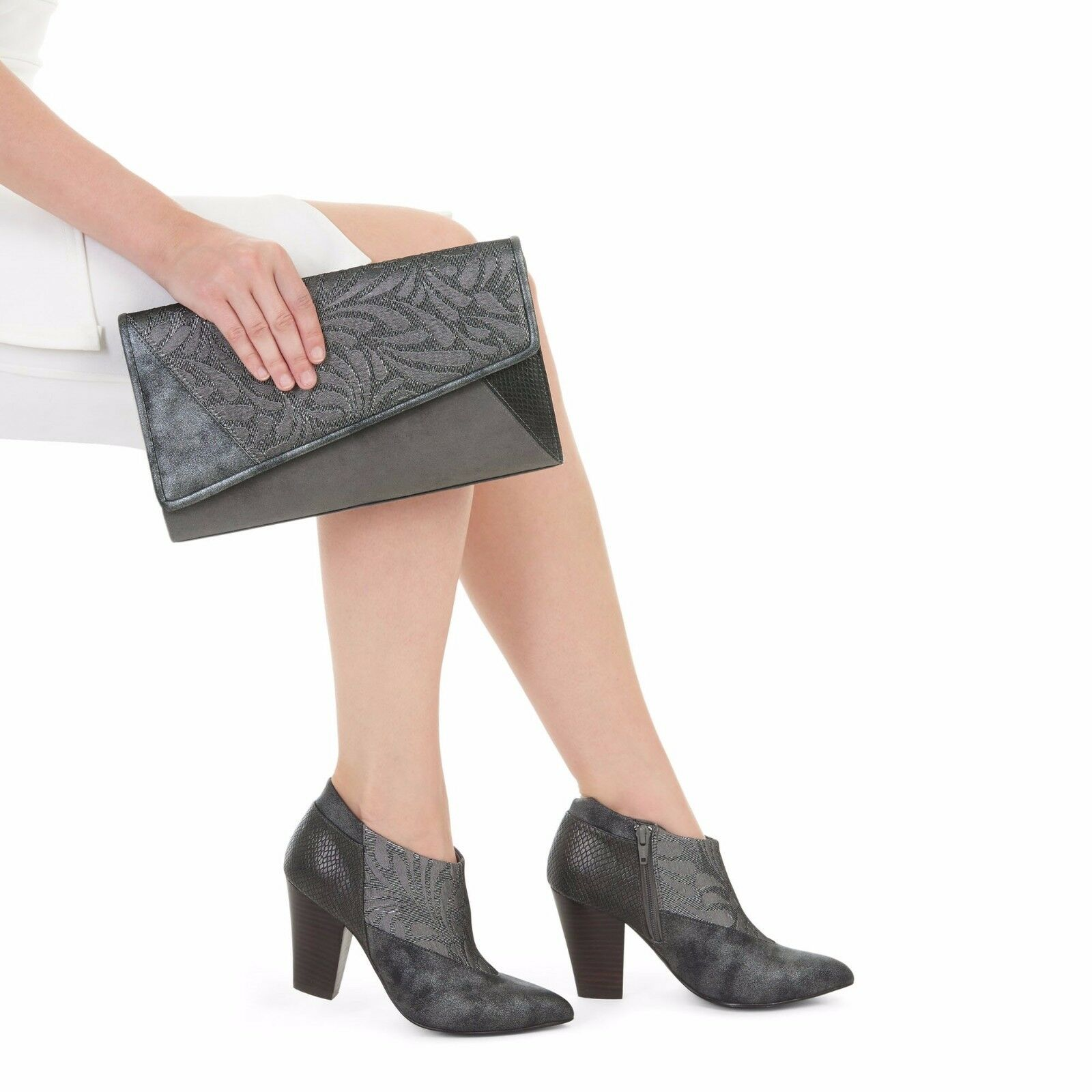 Damenschuhe Ruby Shoo Erika Pewter Ankle High