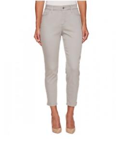 NYDJ Ami Women's Moonstone Grey Ankle Jeans Sz 4P 4924