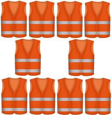 Warnweste Größe XL Unfallwesten ORANGE Sicherheitsweste Signalweste EN471