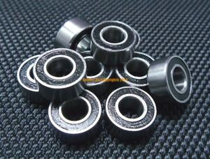 "(4PCS) R188-2RS (1/4"" x 1/2"" x 3/16"") Metal Rubber Sealed Ball Bearings R188RS"