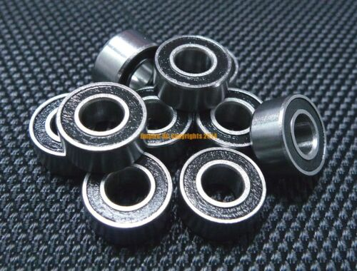 2x6x2.5 mm Metal Rubber Sealed Ball Bearings 2*6*2.5 MR62RS 4 PCS MR62-2RS