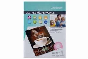 digitale Küchenwaage Motiv KAFFEE bis 5 kg WEINBERGER EK9150K
