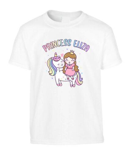 Princess Eliza Kid/'s Children/'s T-Shirt Girls Any Name Unicorn Birthday Gift