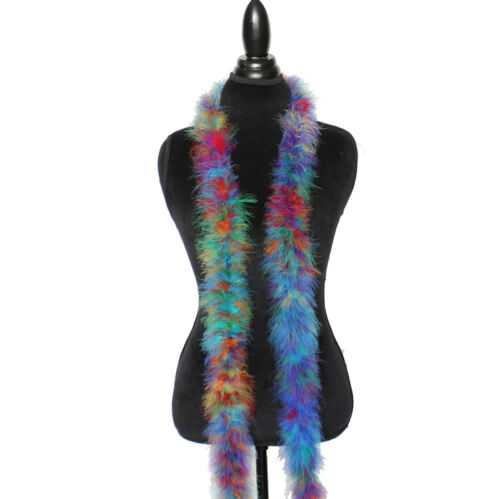 Rainbow Mix 22 Grams Marabou Feather Boa 6 Feet Long Sewing Trim Costume