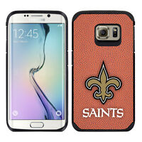 For Samsung Galaxy S6 Edge Only Orleans Saints Nfl Pebble Grain Feel Case
