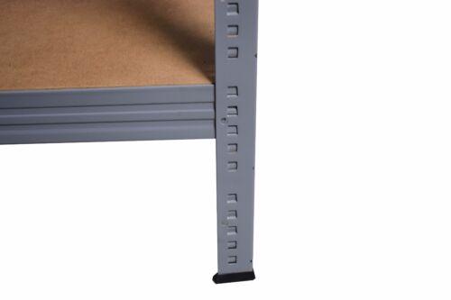Lagerregal Kellerregal PROFI Steckregal SL 90x80x50 cm grau mit 3 Böden