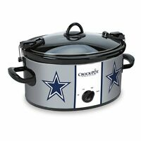 Large Dallas Cowboys Crockpot Slow Cooker Tailgating Football Party Serves 7+
