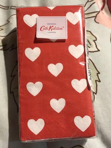 CATH KIDSTON MINI HEARTS RED POCKET TISSUE