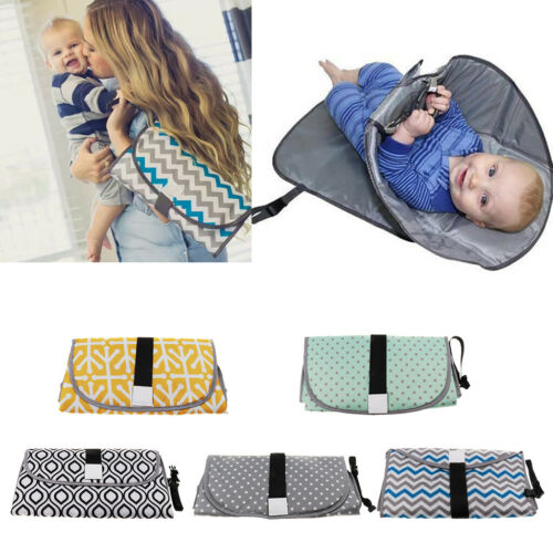 Clean Hands Changing Pad Portable Baby 3 in 1 Cover Mat Folding Diaper Bag