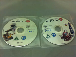 Disney-Wall-E-DVD-R2-PAL-2-DISCS-ONLY-in-plastic-sleeves