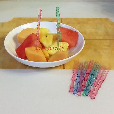20x assorted colors food picks fruit cocktail sticks party wedding fest