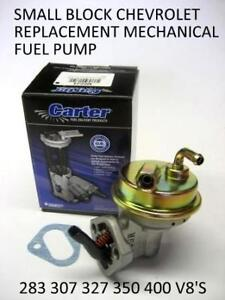 Details About Chevy Sb 283 307 327 350 400 Fuel Pump Carter Federal Mogul M6624