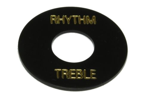 Toggle Switch Ring Plate Standard size for Gibson guitars Black gold lettering