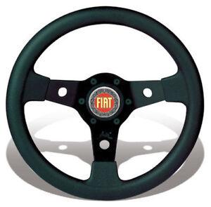 FIAT-500-F-L-R-126-EPOCA-VOLANTE-SPORTIVO-LUISI-FALCON-DIAMETRO-PICCOLO-31-NERO