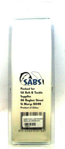 """SABS Rigged Tuna Skirts 5/"""" Small  or 8/"""" Large BRAND NEW"""