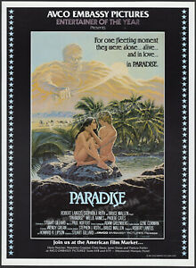 PARADISE__Original 1981 early Trade AD / poster__Phoebe Cates__Willie Aames_1982