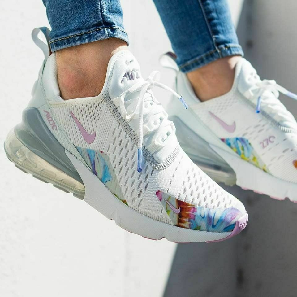 Nike Air Max 270 Wmn Sz 6 5 Floral Summit White Light Arctic Pink