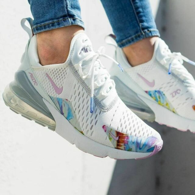 competitive price 754d8 325d9 Nike Air Max 270 Wmn Sz 7 'Floral'Summit White/Light Arctic Pink AT6819-100
