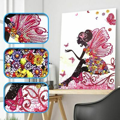 Flower Girl 5D Special Shaped Diamond Painting Embroidery Rhinestone Craft DIY