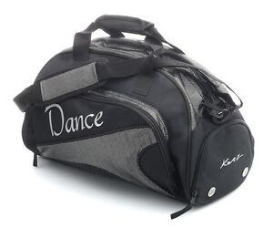 277a7d3dab9 Medium Large Black Sparkly Dance Ballet Tap Kit Holdall Sports Bag ...