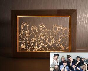 Exclusive BTS Mood Light Photo Frame Gift KPOP Merch Photocard Jungkook Jimin