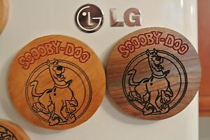 Scooby Doo Refrigerator Magnet Carved in wood American Made/ Homemade