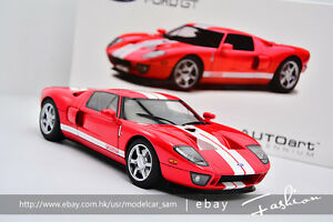 Image Is Loading Autoart   Ford Gt  Supercar Red