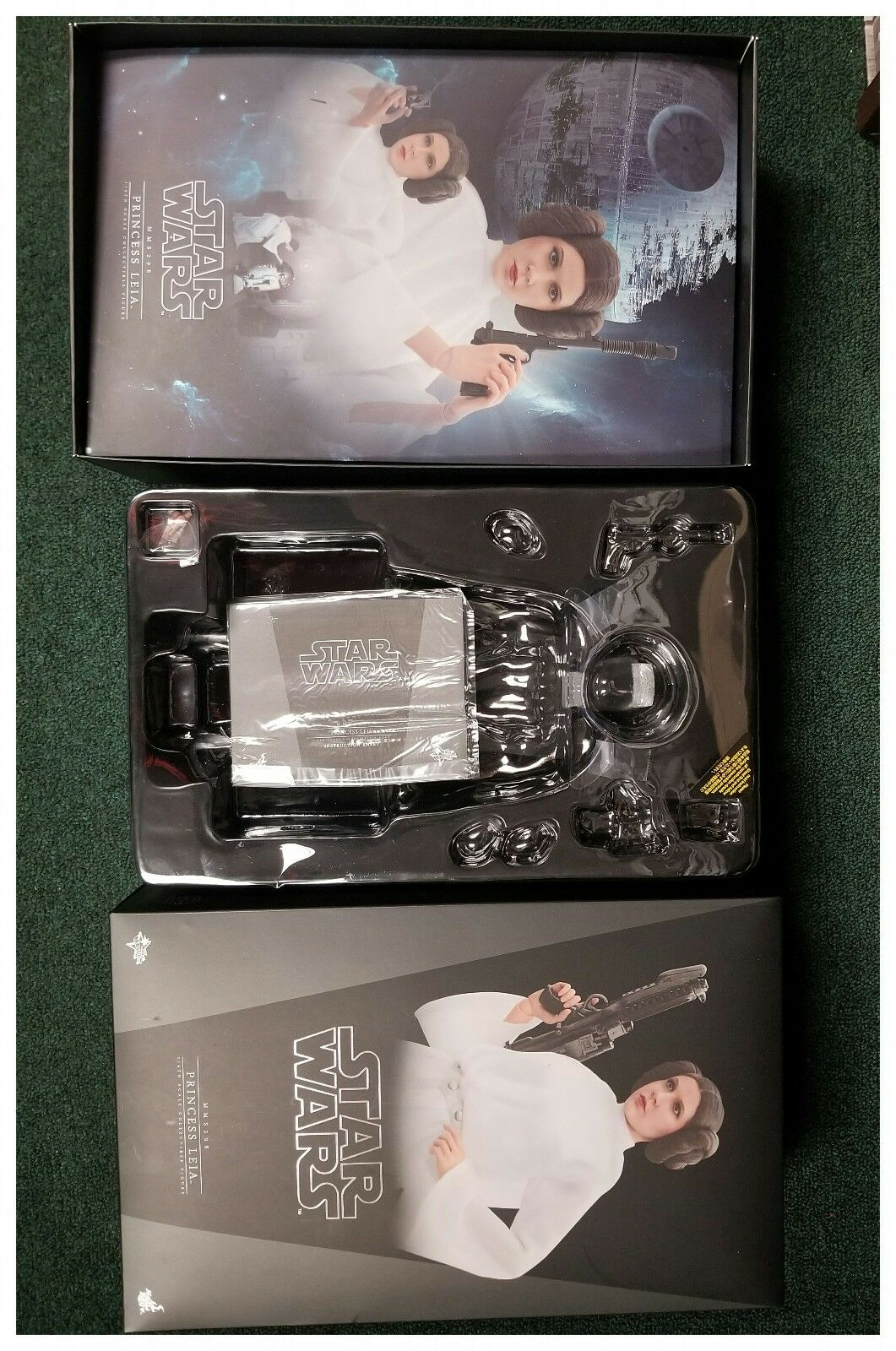1/6 Hot Toys Star Wars Princess Leia MMS298 Empty Box With Plastic Inserts