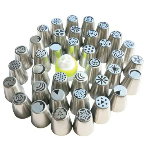 Details about  /36pcs 1Coupler Stainless Steel Icing Piping Nozzles Tips Nozzle Pastry Tools Fon