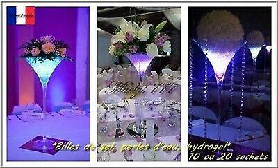 Qualità Al 100% Bille De Gel Perle D'eau Décoration Mariage Vase Salle Couleur Au Choix 10/20pcs Buoni Compagni Per Bambini E Adulti