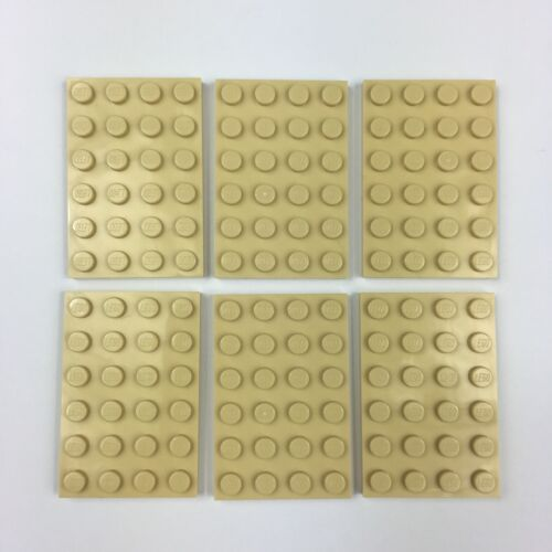 Lego 6 x Tan 4x6 Base Plate 3032 Baseplate New Genuine