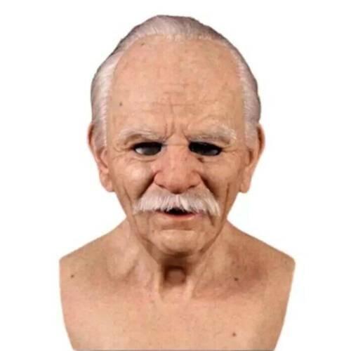 Cosplay Alter Mann Latex Maske Halloween Gesichtsmaske Party Karneval Requisiten
